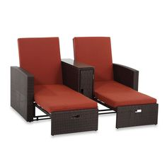 Wicker Double Chaise Lounge
