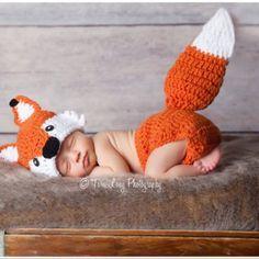 Crochet Fox Outfit Baby Girl Baby Boy Fox Hat and Diaper Cover newborn Fox Outfi. - Gelinlik - Crochet Fox Outfit Baby Girl Baby Boy Fox Hat and Diaper Cover newborn Fox Outfit Fox Set Fox Photo - Crochet Fox, Crochet For Boys, Crochet Hats, Crochet Beanie, Crochet Ideas, Crochet Projects, Crochet Mandala, Free Crochet, Crochet Patterns