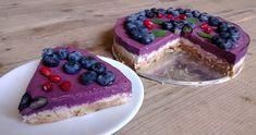 RAW recepty | Borůvkový cheesecake tří barev | www.rawsuperfood.cz