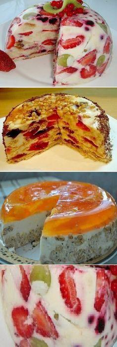 3 deliciosas TORTAS que no necesitan ser horneadas.  #sinhorno #delicious #deliciosas    #cheesecake #vainilla #postres #receta #recipe #casero #torta #tartas #pastel #nestlecocina #bizcocho #bizcochuelo #tasty #cocina #chocolate #pan #panes  Si te gusta dinos HOLA y dale a Me Gusta MIREN…