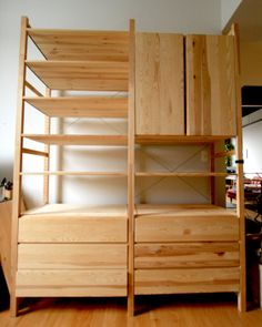 ivar 3 section shelving unit w cabinets pine pine i. Black Bedroom Furniture Sets. Home Design Ideas
