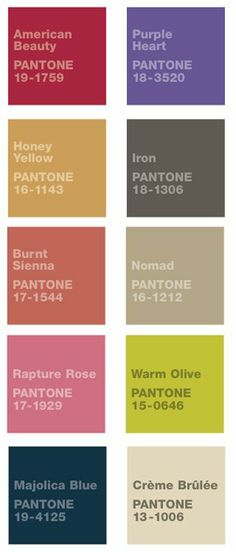Fall Wedding Colors - These are some of the colors I like to match with the bridesmaids dresses  (bottom left color)