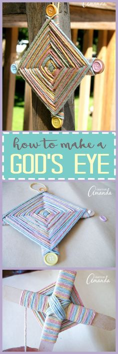 This God's eye craft is the perfect camp craft for kids. They'll enjoy choosing their yarn colors and making their own God's eye they can proudly display!