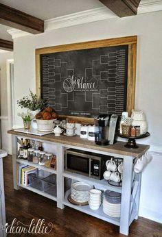 Chalkboard Banquet Setting Kitchen Sideboardkitchen Wallskitchen
