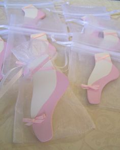Ballet Slippers Favor bags 10 pieces by FavorsByGirlybows on Etsy, $11.00