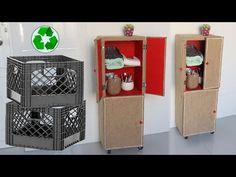 Amazing ! Recycle Diy Old Milk Crates into Furniture, Jute Craft ideas - YouTube Diy Recycle, Recycling, Jute Crafts, Milk Crates, The Creator, Holiday Decor, Amazing, Macrame, Craft Ideas