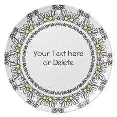 Daisy Party Plates | Daisy Kaleidoscope Party Plates | Zazzle  sc 1 st  Pinterest & Daisy Crazy 10.5