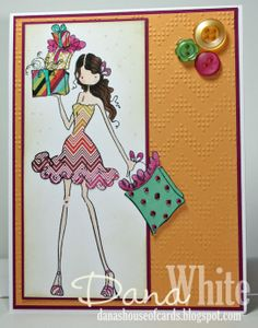 Uptown Girl Posh has a Present card - image from Stamping Bella