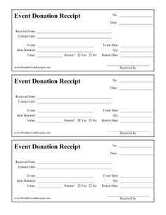 Free donation receipt of general interest pinterest this printable donation receipt is for people who donate items for an event whether they thecheapjerseys Choice Image