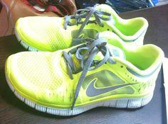 Nike free runs running shoes