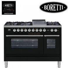 Boretti VFP 120 ZW 120 cm breed gasfornuis...er moet toch gekookt worden. Deze is wel heel gaaf!