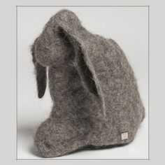 It's late for Easter, but this felted bunny is better than just for keeping food warm (advertised purpose). I'd use it as a hand puppet. Manufacturer: Hut Up, Berlin