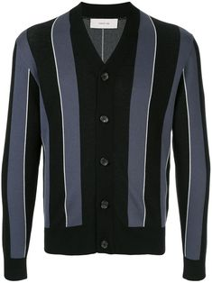 Cerruti 1881 Striped Cardigan In 38 Striped Cardigan, Black Cardigan, High Fashion, Mens Fashion, Vest Jacket, Mens Suits, Size Clothing, Fall Outfits, Women Wear