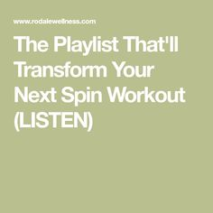The Playlist That'll Transform Your Next Spin Workout (LISTEN)