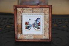 Wine Cork and Picture Wall Decor by GulfCoasters on Etsy