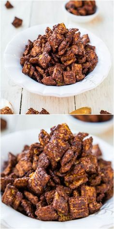 Chocolate Peanut Butter Snack Mix #chocolate #peanutbutter #snack