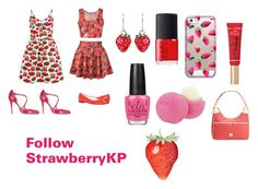 """I love StrawberryKP"" by myan120 ❤ liked on Polyvore featuring beauty, Cutie, Lady Fox, Dooney & Bourke, Eos, Too Faced Cosmetics, NARS Cosmetics, Casetify, OPI and Camilla Elphick"