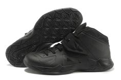 5b3d69049f05 Sale Discount Nike Zoom Soldier VII All Black Basketball Shoes Shop