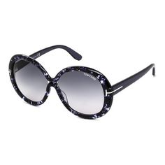 1fe1cb547e52 Tom Ford Tortoiseshell Oversize Sunglasses ( 145) ❤ liked on Polyvore  featuring accessories