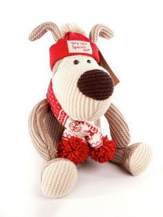 Boofle 9.5 Inch Hat & Scarf Soft Toy