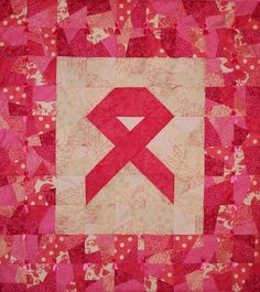 PINK Ribbon Wallhanging Quilt PATTERN, use your Stash!! Support Breast Cancer | eBay