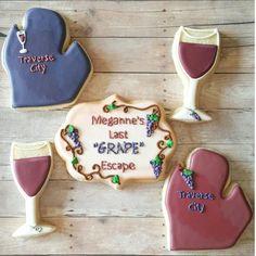 Traverse City Bachelorette Themed Cookies!