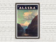 Vintage Poster of Alaska , This is Alaska, 1940