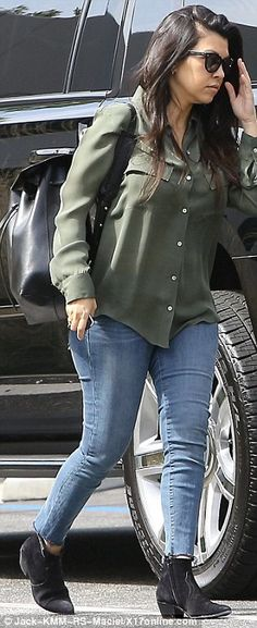 Kourtney Kardashian looks after all three children as it emerges Scott Disick will be paid to attend rehab | Daily Mail Online