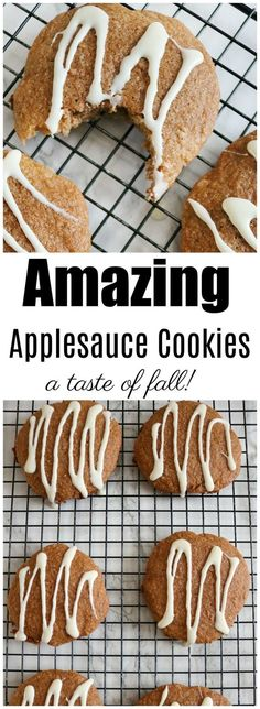 Amazing Applesauce Cookies Nothing says fall like apples! These amazing applesauce cookies are soft, moist and low fat, even though they don't taste like it. Recipe Using Applesauce, Baking With Applesauce, Applesauce Cookies, Applesauce Recipes, Fall Dessert Recipes, Fall Recipes, Cookie Recipes, Coffee Cookies, Spice Cookies