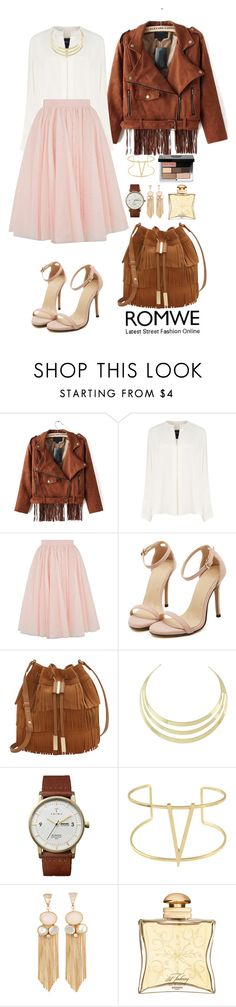 """Romwe 9"" by amra-f ❤ liked on Polyvore featuring Derek Lam, Ted Baker, WithChic, Vince Camuto, Triwa, Hermès, Bobbi Brown Cosmetics, Fall, 1d and romwe"