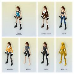 Image result for lara croft go character design