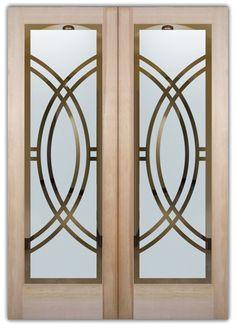 double entry doors etched glass linear design art deco design sans soucie arcs ll