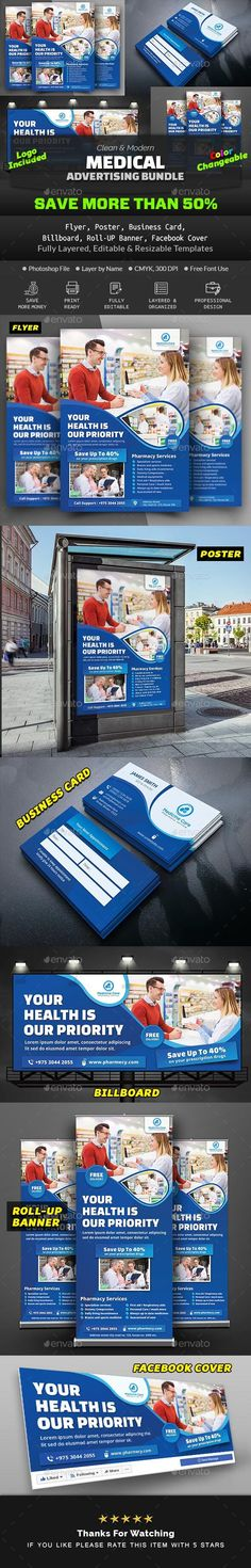 Buy Pharmacy Advertising Bundle by Creative-Touch on GraphicRiver. This Medical Pharmacy Advertising Bundle is perfectly suitable for promoting your Business. Dental Doctor, Medical Health Care, Information Graphics, Pharmacy, Drugs, Medicine, Web Design, Advertising, Banner