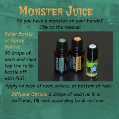 Monster Juice - stop tantrums and fits naturally (without yelling at your kid) #doterra #essentialoils #parenting
