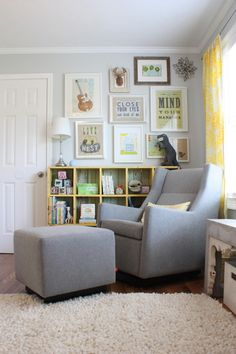 would like to do a similar wall collage over cubby bookshelf
