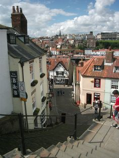 Whitby , UK - home of Whitby Abbey of  Dracula fame