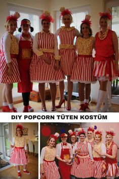 ☀Unbeauftragte Werbung☀DIY POPCORN TÜTEN KOSTÜM What a great costume, right? # Group costume for the session. Our homemade popcorn bag costume.