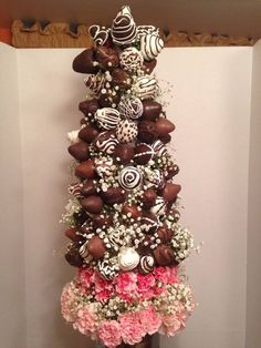 chocolate strawberry tower