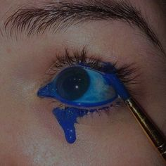 Crying Aesthetic, Aesthetic Eyes, Aesthetic Videos, Aesthetic Makeup, Aesthetic Pictures, Indie Photography, Everything Is Blue, Eye Pictures, Mood Wallpaper