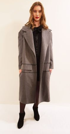 Grey Summy coat The Chic, Wool Coat, Amelia, Normcore, Grey, Black, Style, Fashion, Mantle