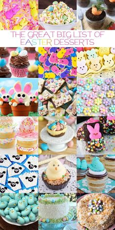 The Great Big List of Easter Desserts – 132 too cute Easter desserts that are sure to bring you a hoppy Easter! The Great Big List of Easter Desserts – 132 too cute Easter desserts that are sure to bring you a hoppy Easter! Cute Easter Desserts, Easter Treats, Easter Recipes, Easter Food, Dessert Recipes, Easter Snacks, Holiday Desserts, Recipes Dinner, Cupcake Recipes
