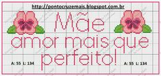 Boa semana bordadeiras no plantão!   Hoje trago mais ideias para o dia das mães Cross Stitch Embroidery, Charts, Cutting Board, Link, Cross Stitch Art, Cross Stitch Patterns, Embroidery Ideas, Butterfly Cross Stitch, Mothers Day Crafts