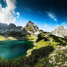 """The beautiful #Drachensee  #vordererdrachenkopf #sonnenspitze #ehrwald #lovetirol #visitaustria #discoveraustria"" Austria, River, Instagram Posts, Beautiful, Outdoor, Dragons, Places, Outdoors, Outdoor Games"