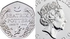 New 50p piece celebrating Beatrix Potter's 150th Anniversary