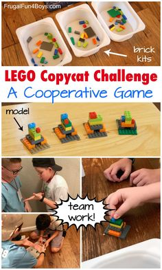 LEGO Copycat Challenge – A TOTALLY Fun Cooperative Game. Perfect for a birthday party or a LEGO club or a classroom STEM challenge.