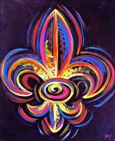 Bright color Fleur-de-lis