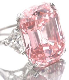 """The Graff Pink    A fancy intense pink, the 24.78 carat """"Graff Pink"""" sold at Sotheby's for $46,000,000 on November 16, 2010."""
