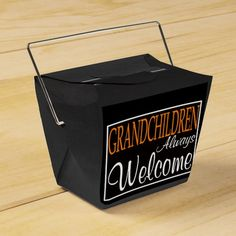 Grandchildren Welcome Customizable gift box Party Favor Box
