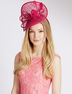 Faux Feather Twisted Fascinator   M&S