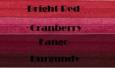 Red Fold over elastic (FOE). $2.50, via Etsy. Shades Of Red, Hair Ties, Craft Supplies, Craft Ideas, Trending Outfits, Unique Jewelry, Handmade Gifts, Crafts, Etsy
